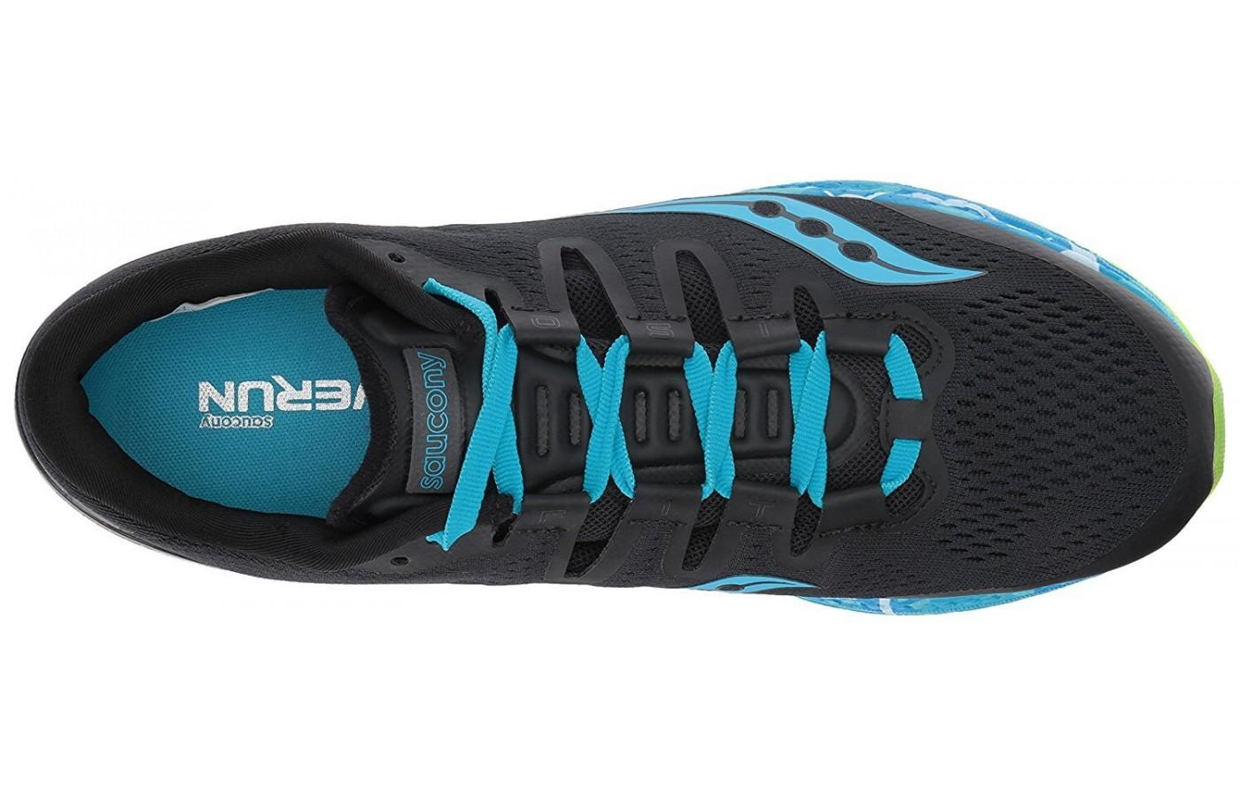 The Saucony Freedom ISO shown from directly above.