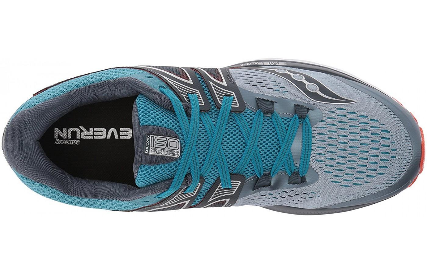 Top view of the ISOFIT upper of the Saucony Triumph ISO 3 running shoe