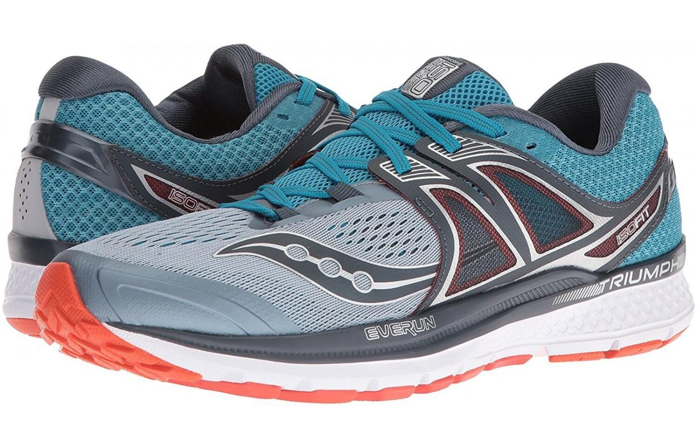 A pair of Saucony Triumph ISO 3 running shoes