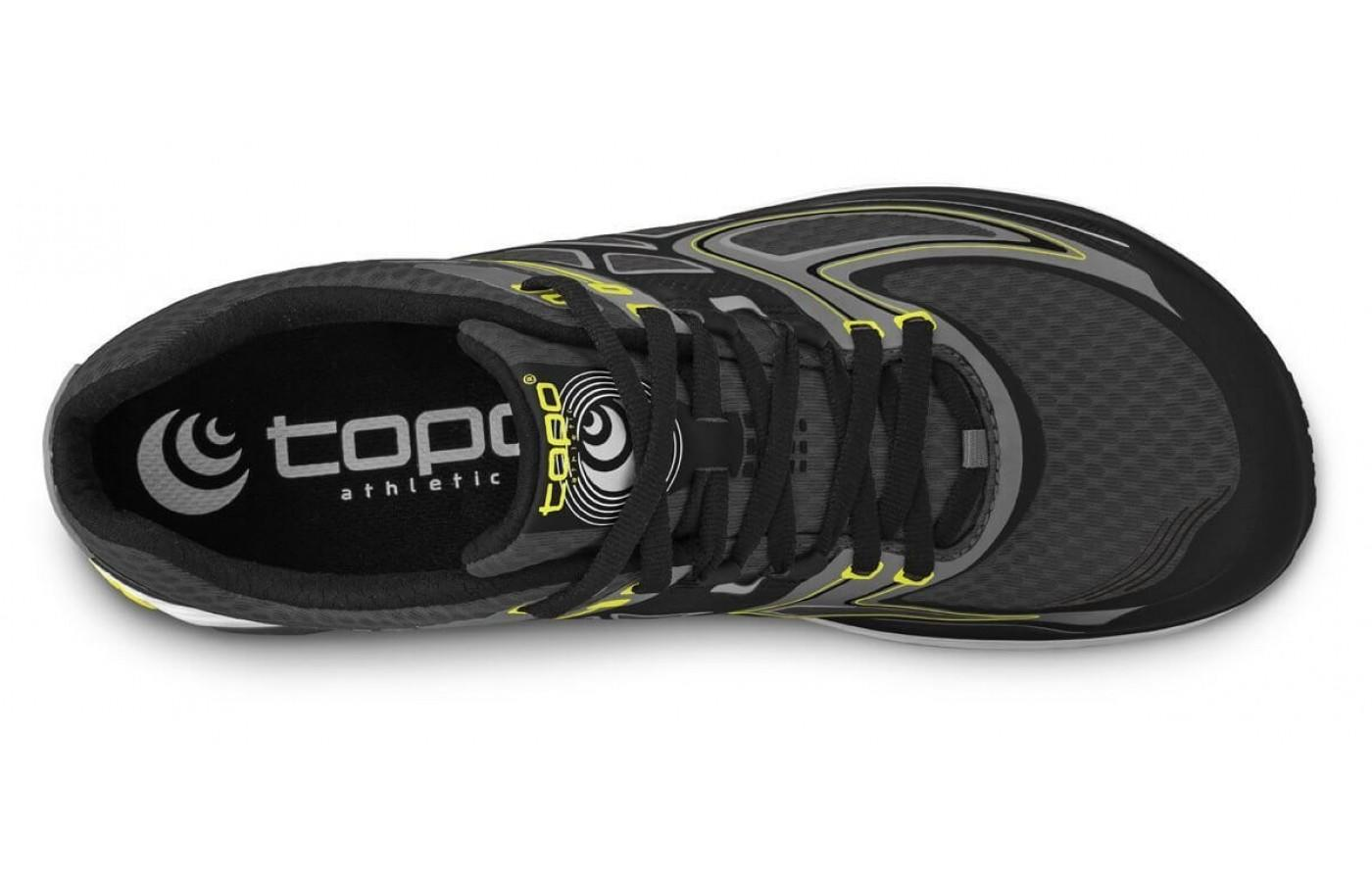 the upper of the Topo Athletic Ultrafly is breathable and features a roomy toe box
