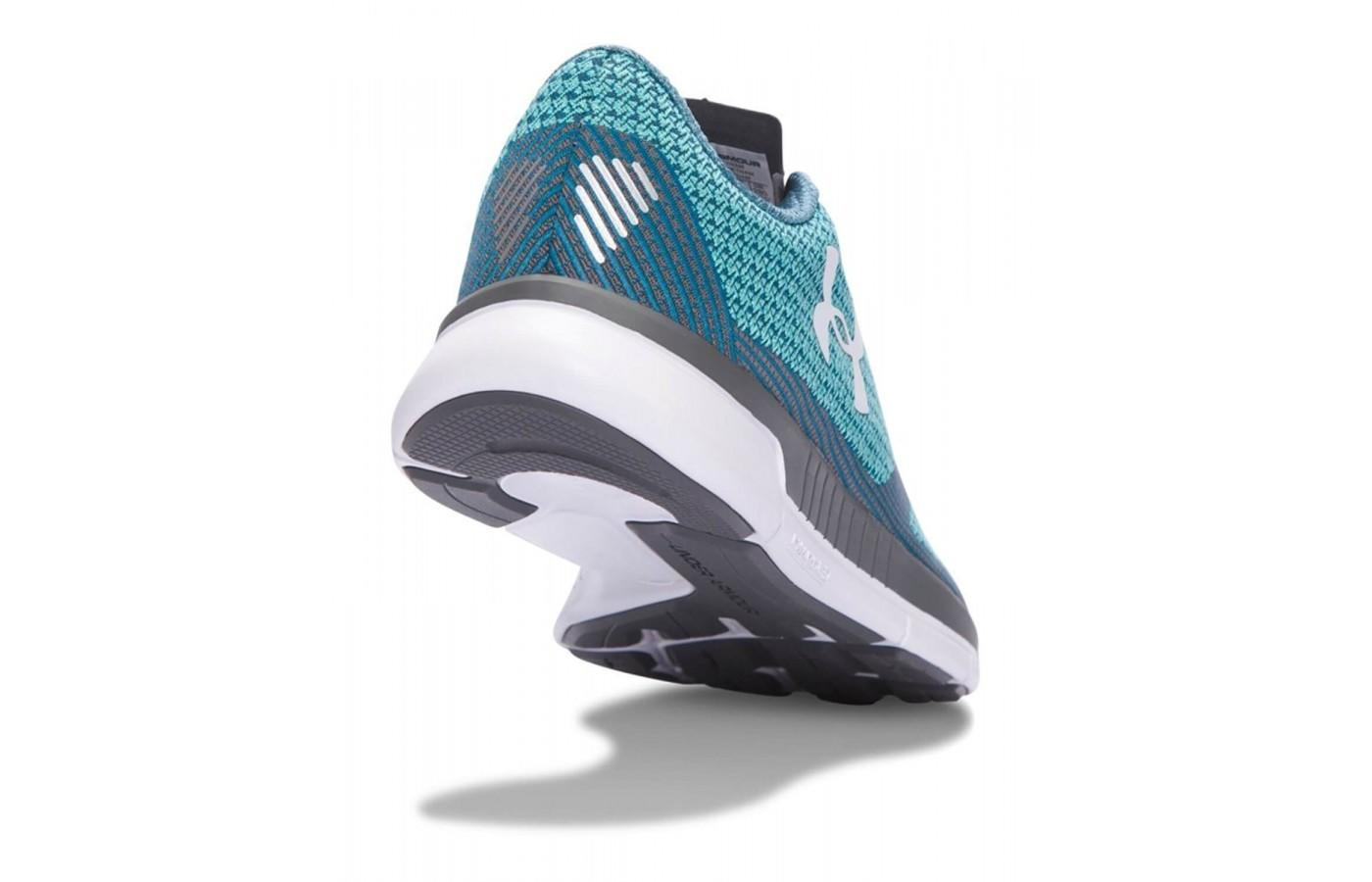 the outsole of the Under Armour Charged Lightning has strategically placed rubber pods to provide solid traction