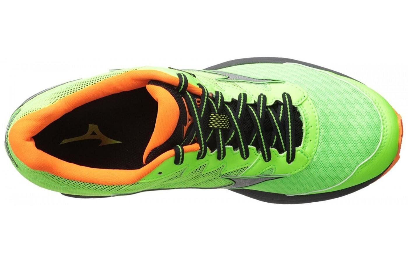 this shoe features a gore tex material for water proofing