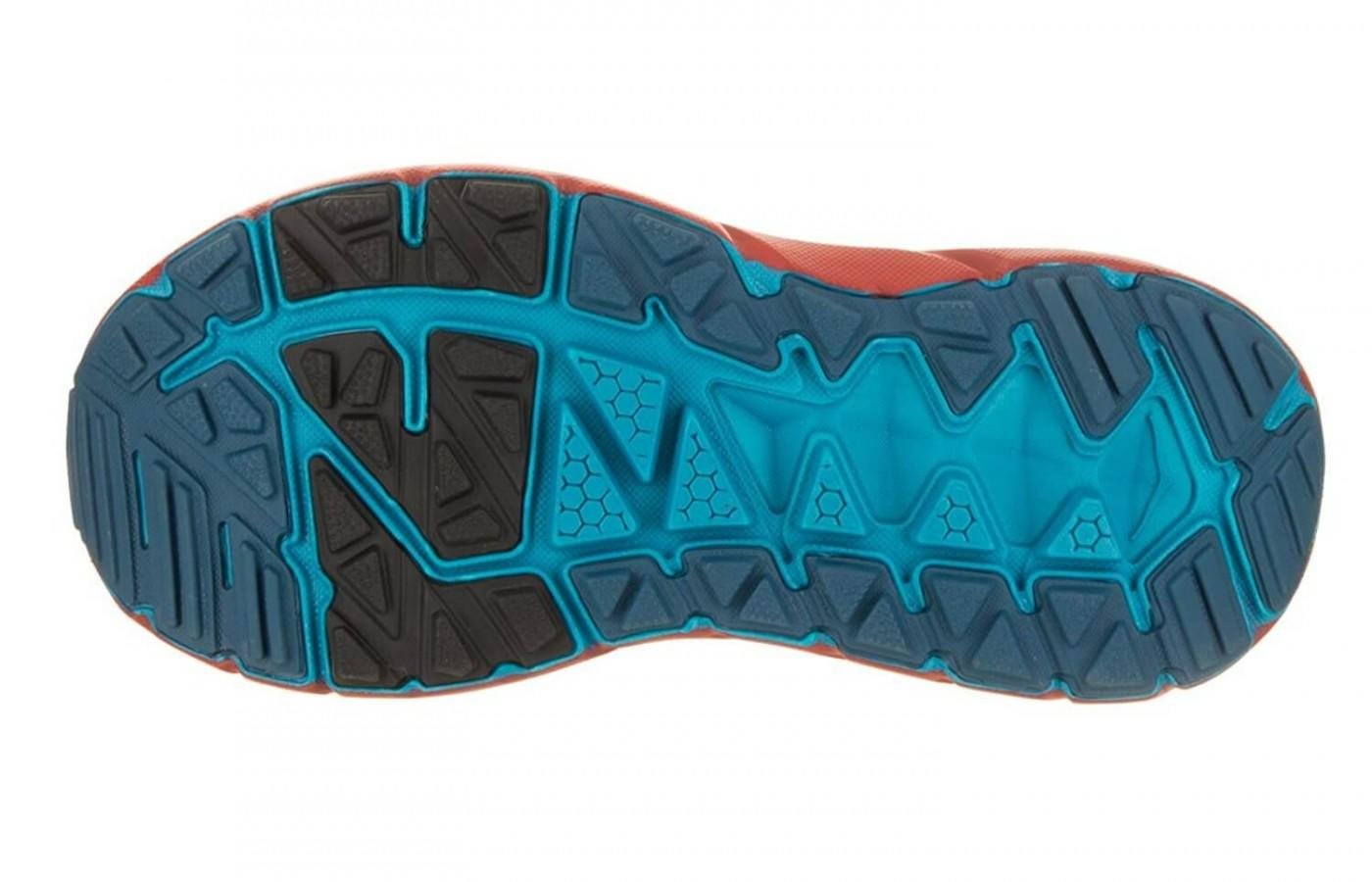 The unique outsole of the Hoka One One Stinson ATR 4 allows the runner to take them on the road or the trail