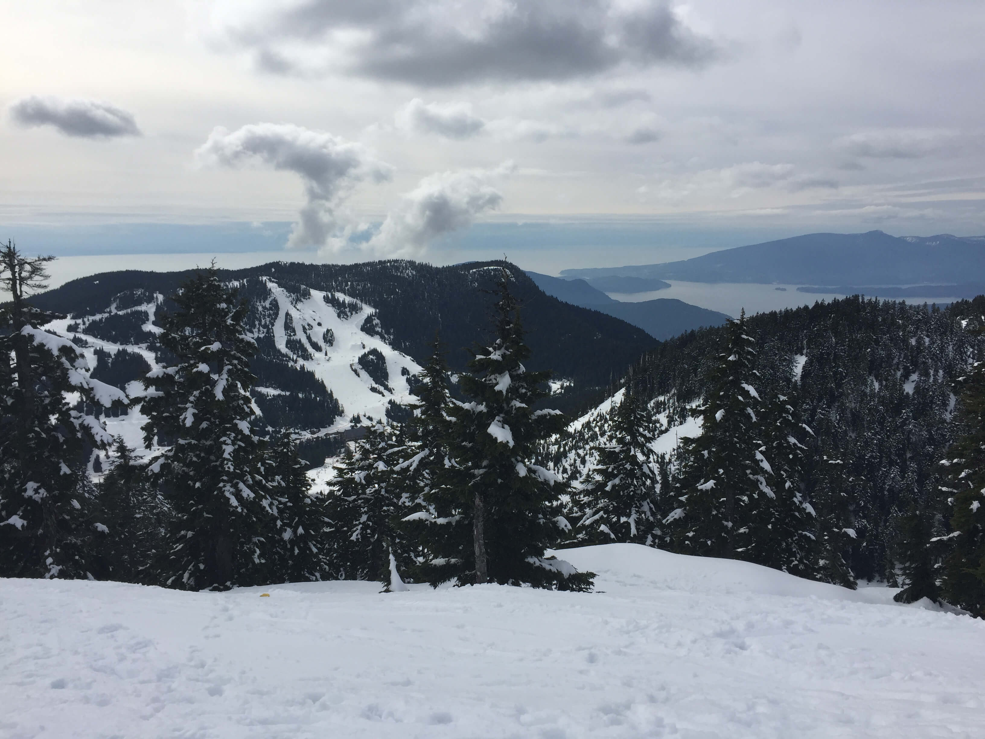 Mt Seymour, BC, with various winter trails