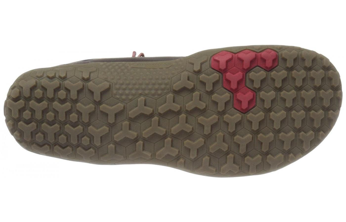 Lugged underfoot for superior traction on tough terrain.