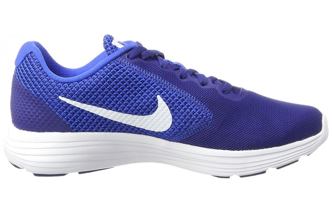 The Nike Revolution 3 in men's cobalt blue version