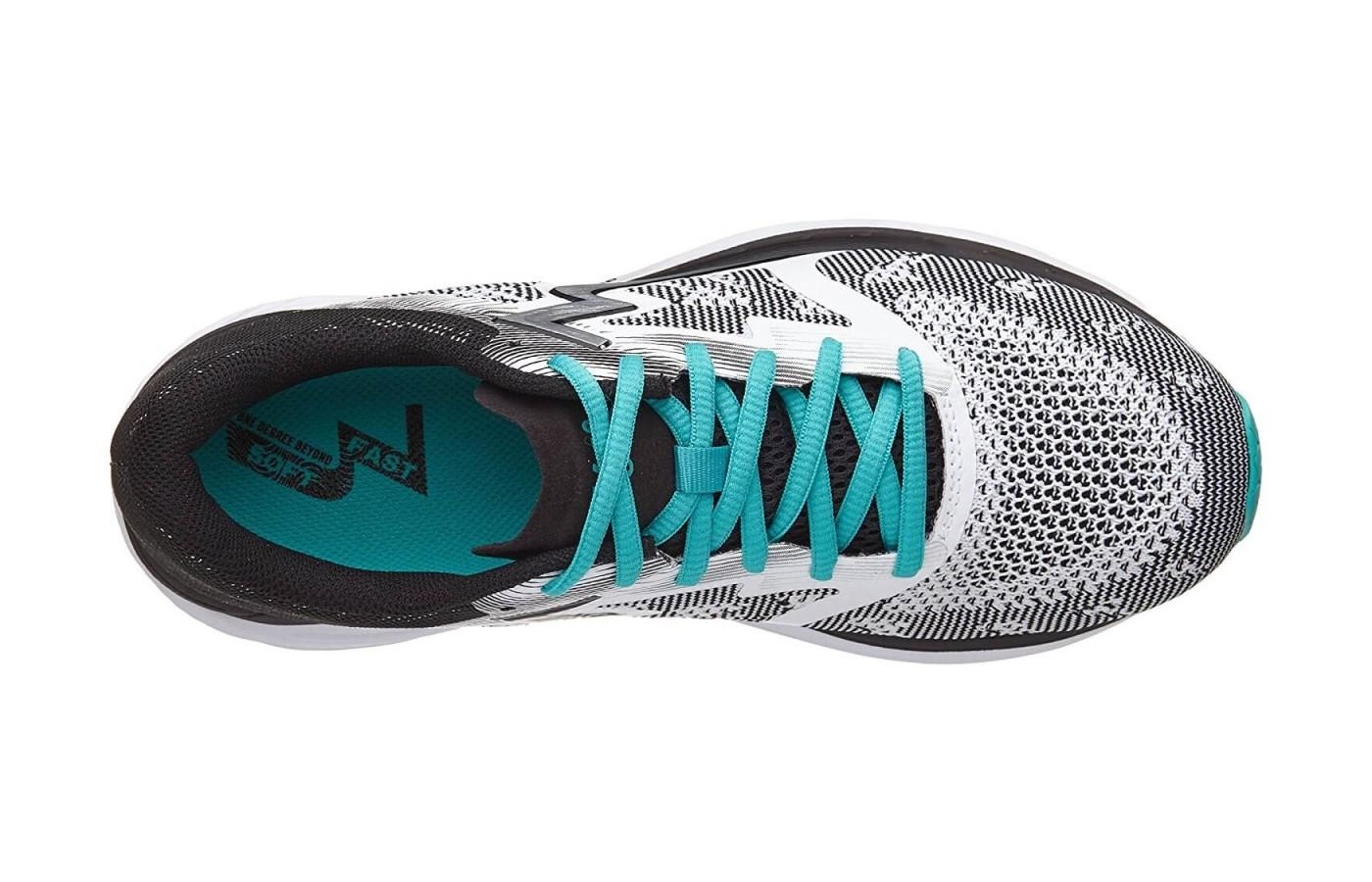 the spinject features a knit mesh upper