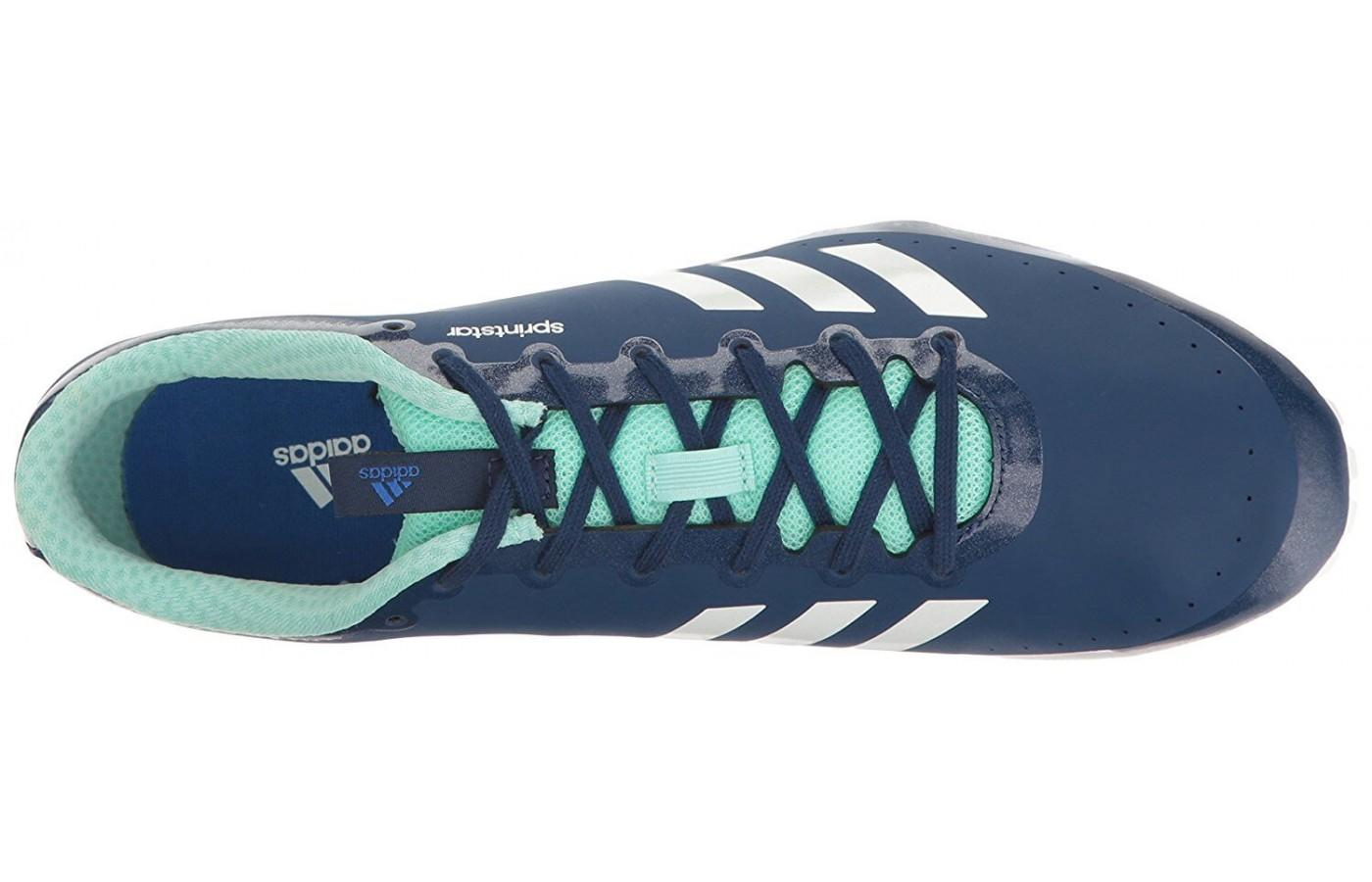 The Adidas Sprintstar has a SPRINTWEB mesh upper for lightweight breathability