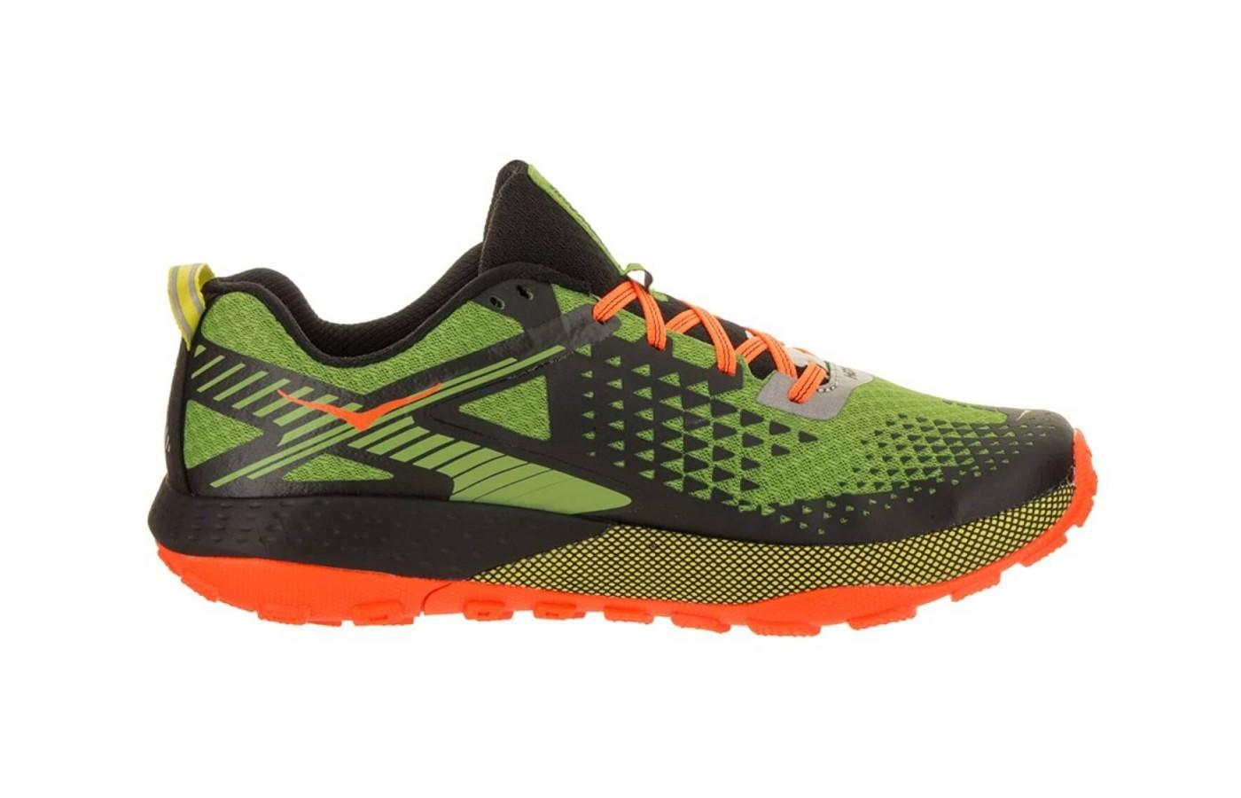 the Hoka One One Speed Instinct 2 is a highly breathable low-cut trail runner