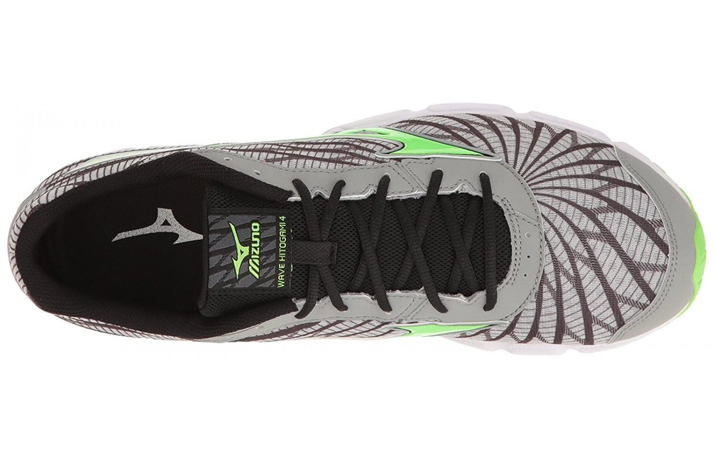 the upper of the Mizuno Wave Hitogami 4 is constructed of breathable AIRmesh