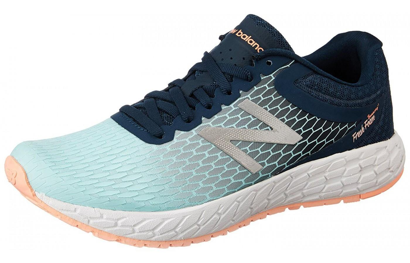 New Balance Fresh Foam Boracay V3 features an open mesh upper