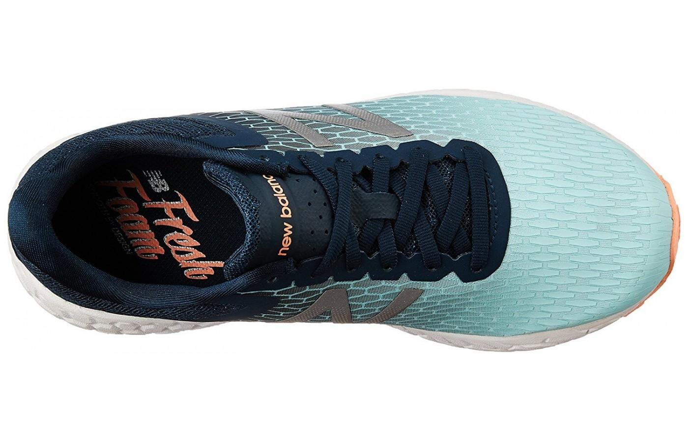 New Balance Fresh Foam Boracay V3 has stretchy laces