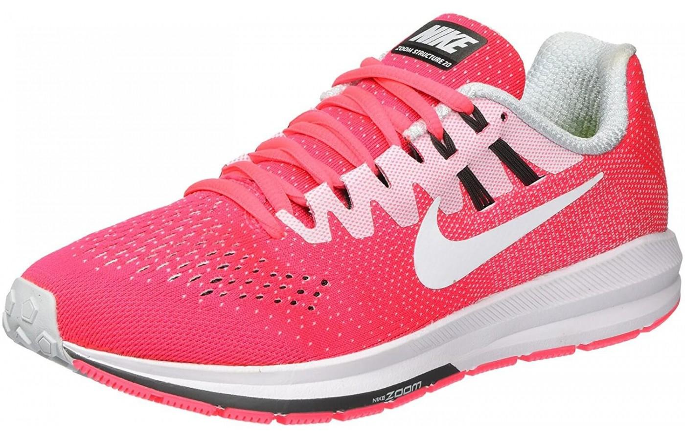 A red variation of Nike air zoom structure 20