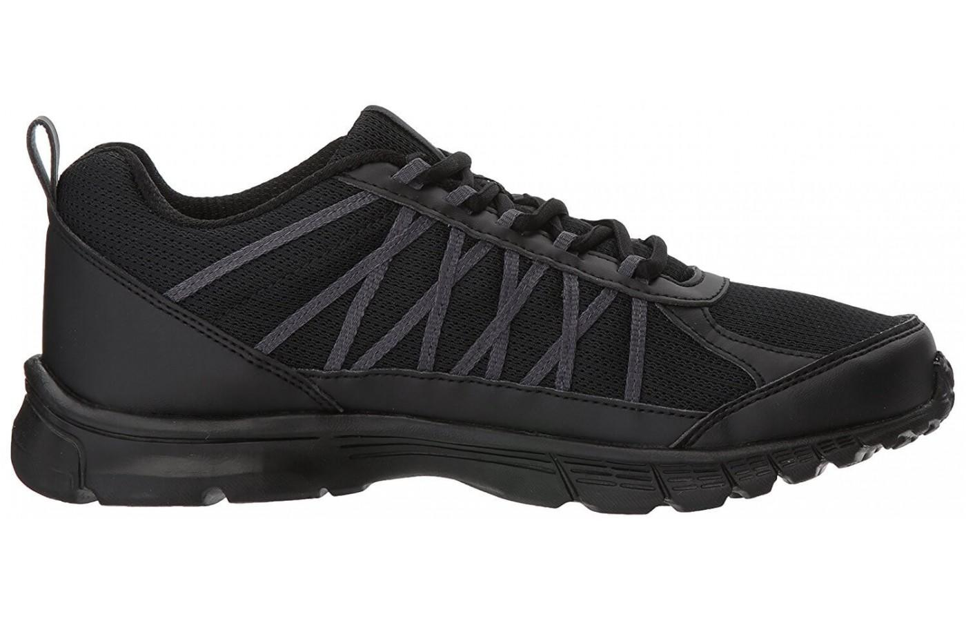 The midfoot webbing stabilizes and has visual appeal