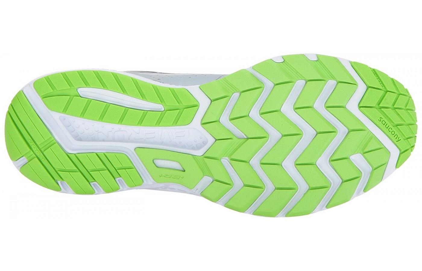 the outsole provides solid traction on the road