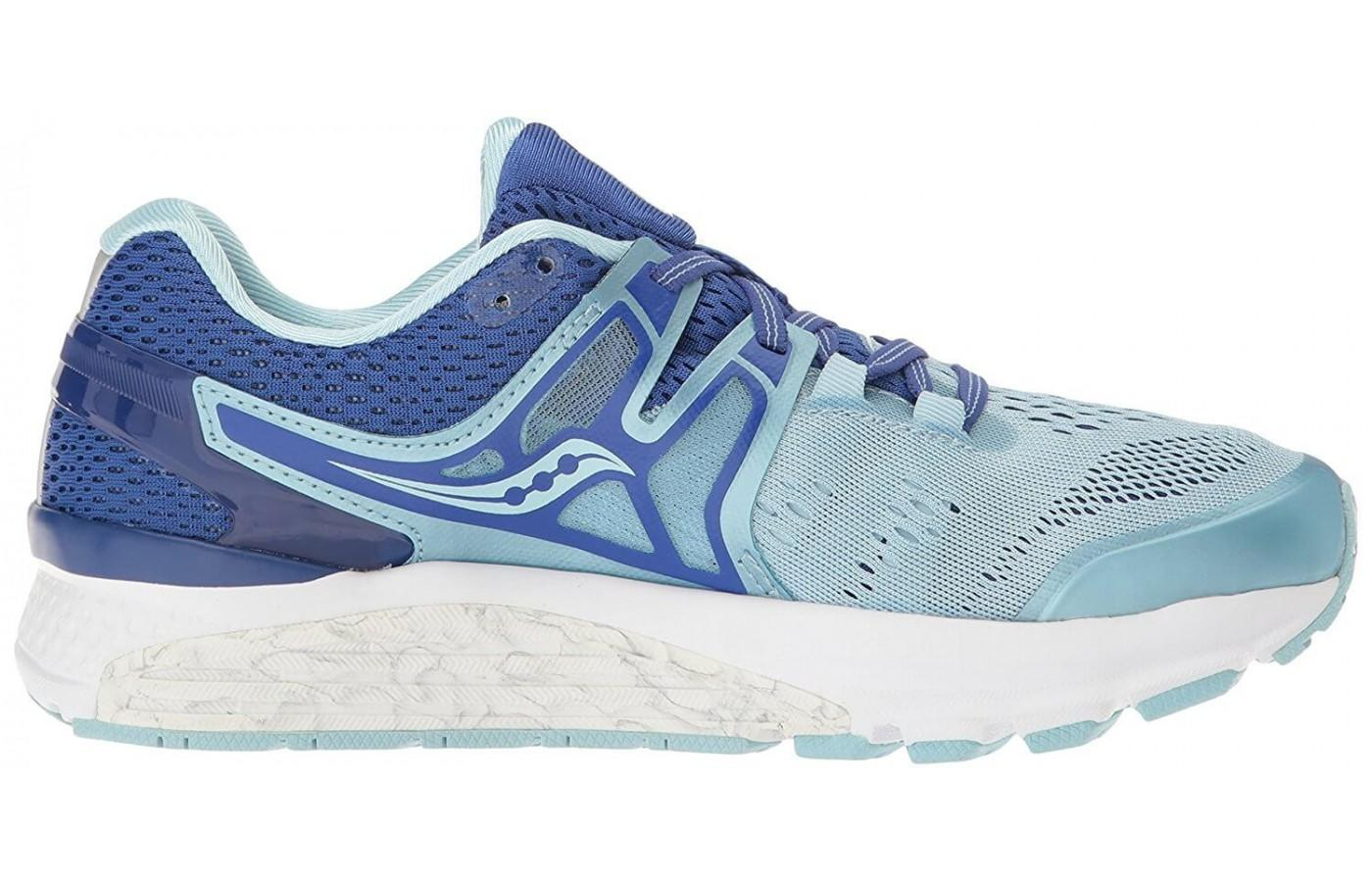 The upward slope of the sole unit acts as added arch support for over pronators