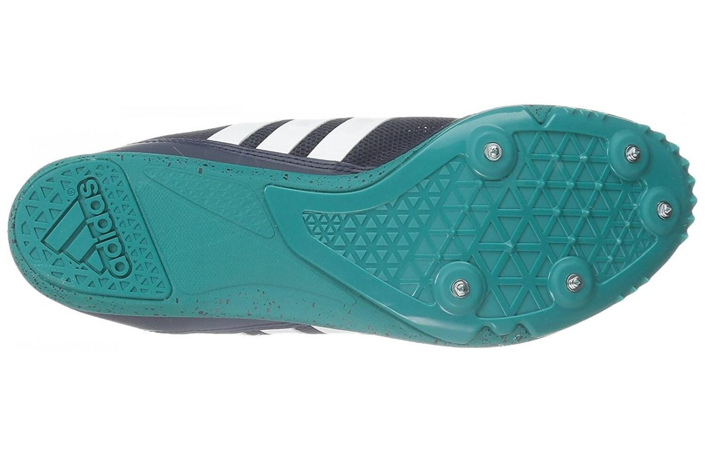 Strategically placed spikes encourage speed and traction