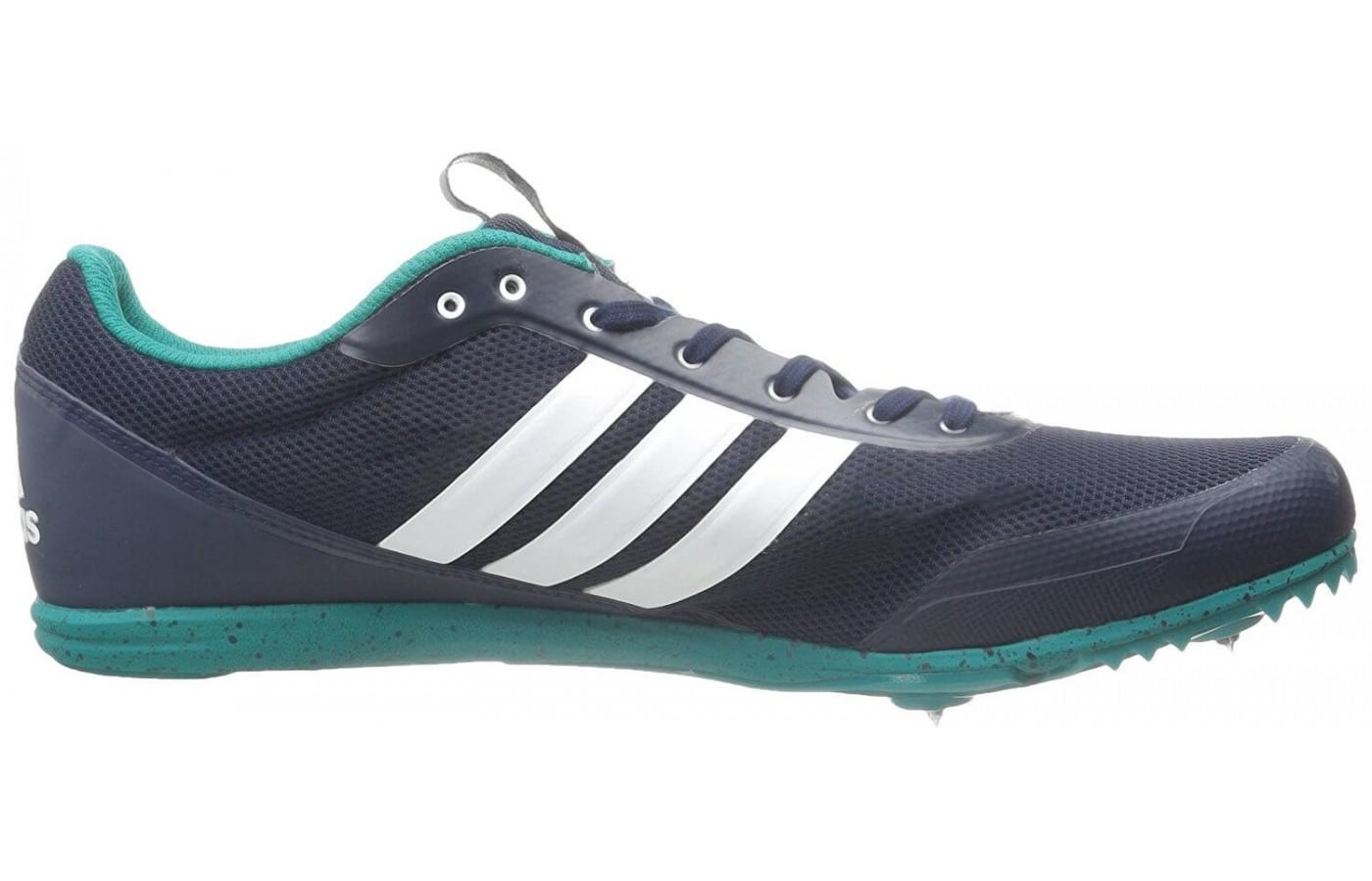 The classic Adidas insignia decorates this shoe