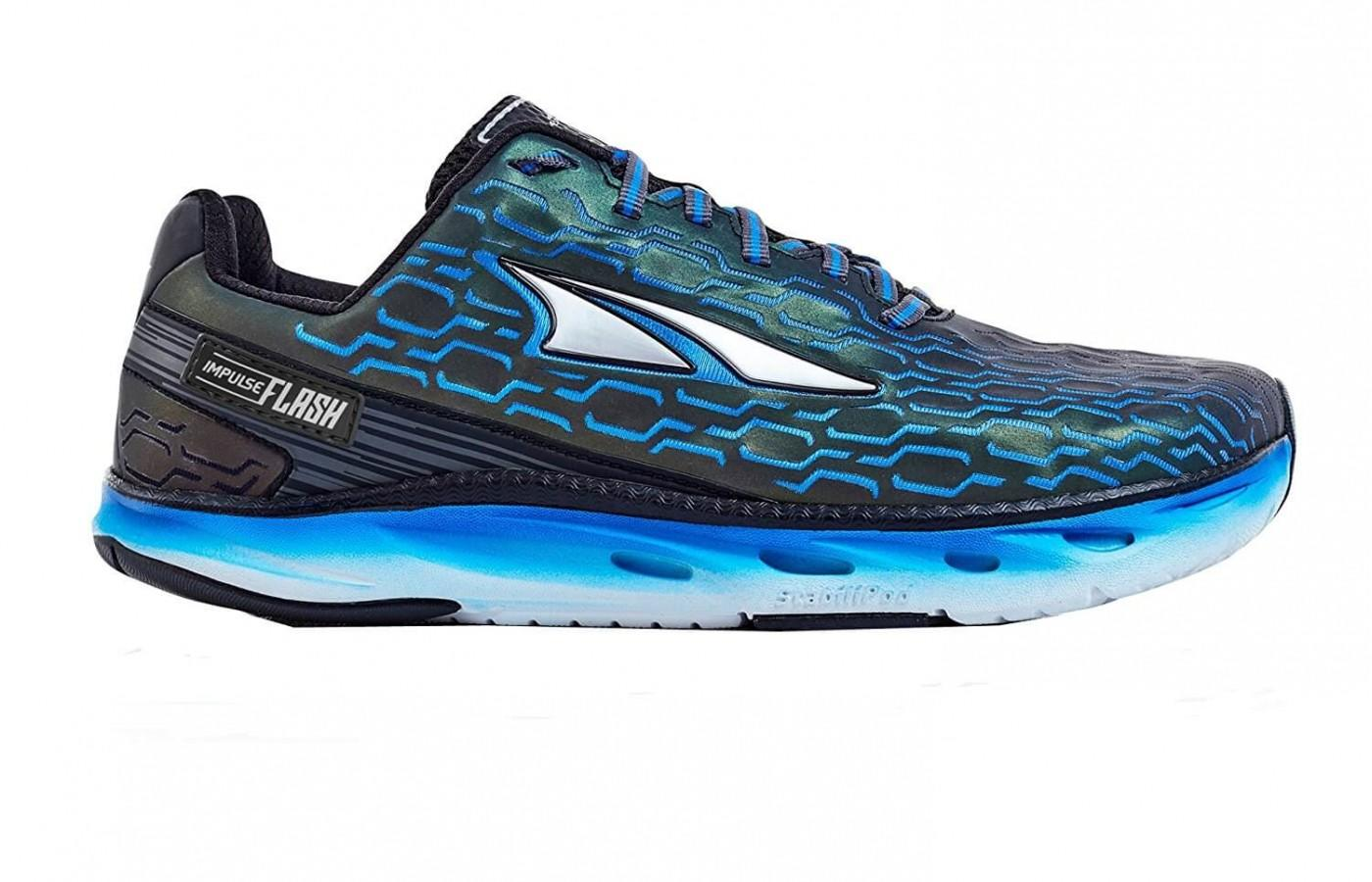 The Altra Impulse Flash features drainage ports in the rubber sole