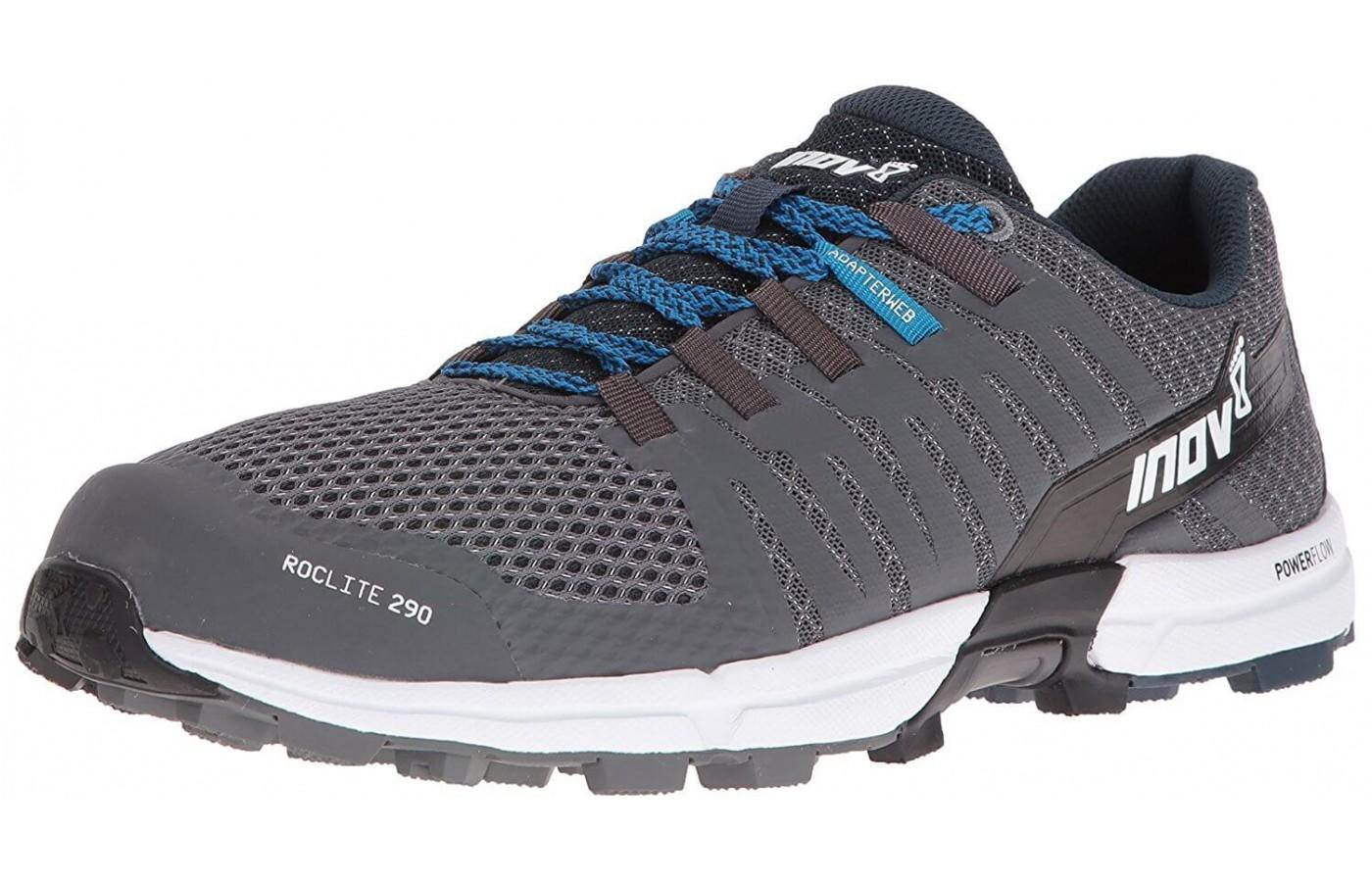 An angled perspective of the Inov-8 Roclite 290.