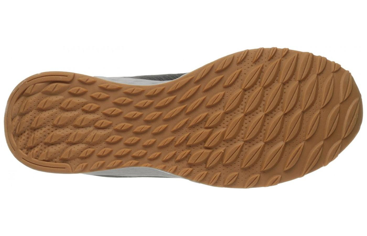 The outsole is made from a durable rubber.