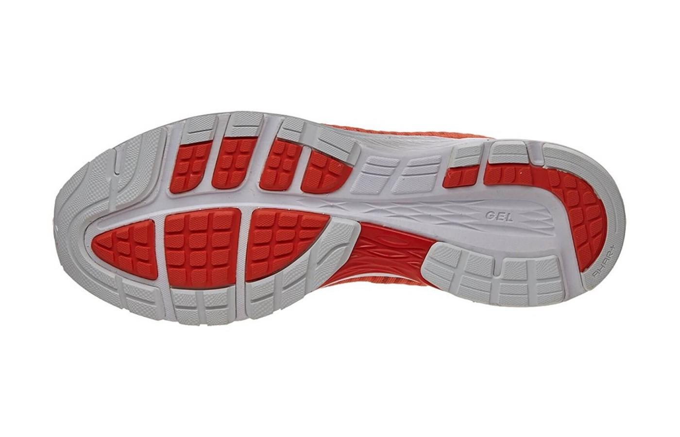 This shoe features a highly durable outsole.