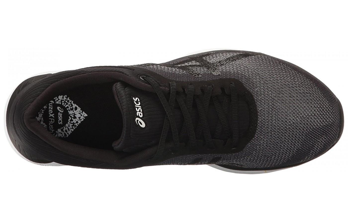 The upper is lightweight and breathable.