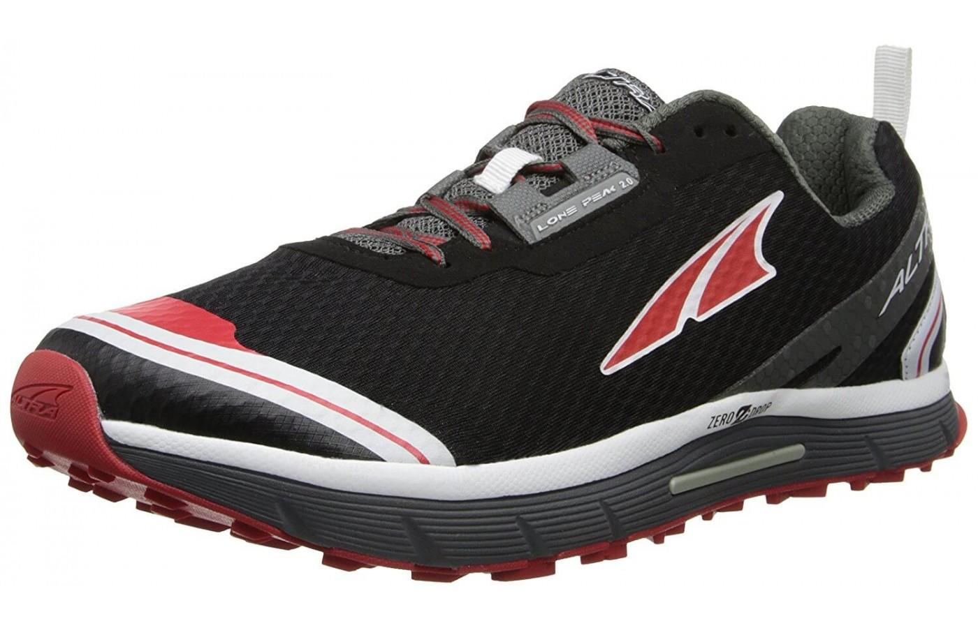 This shoe features a comfortable ride.