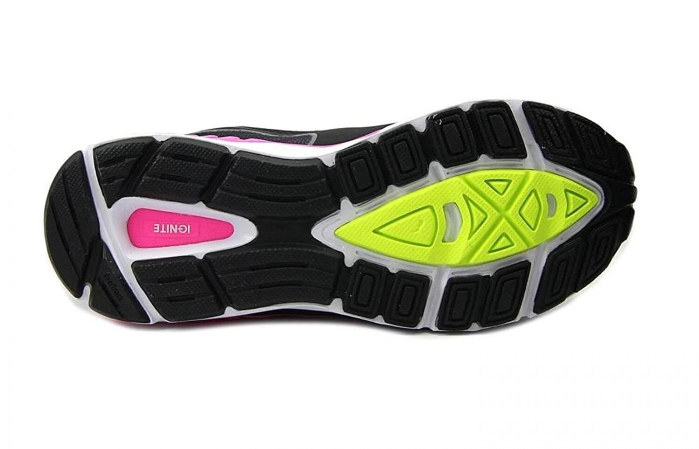 The outsole provides durability and protection