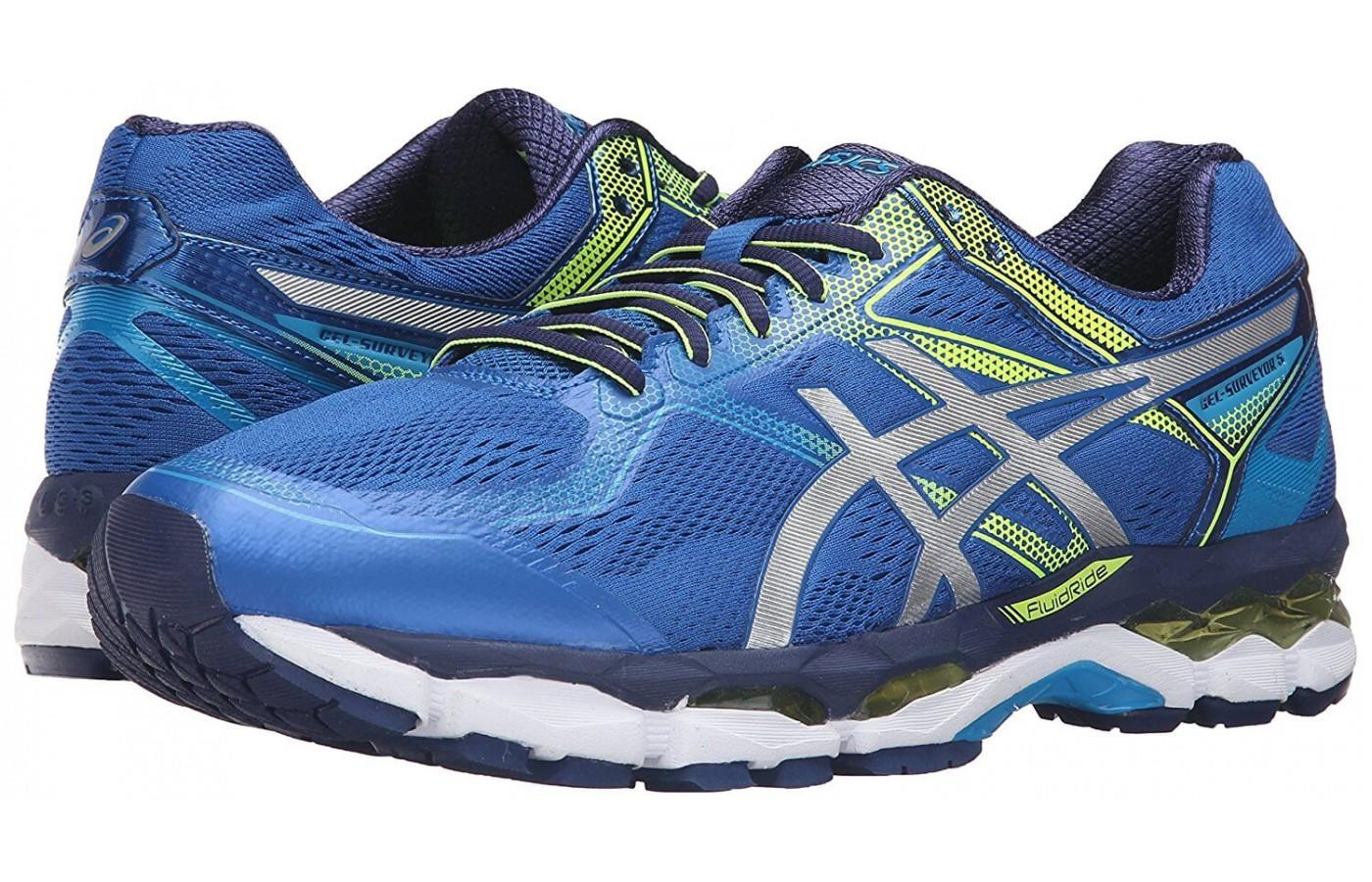 The ASICS GEL-Surveyor 5, one of the brand's most reliable running shoes for serious trainers.