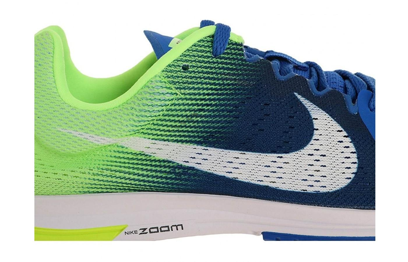 The midsole features Nike's patented Zoom material.