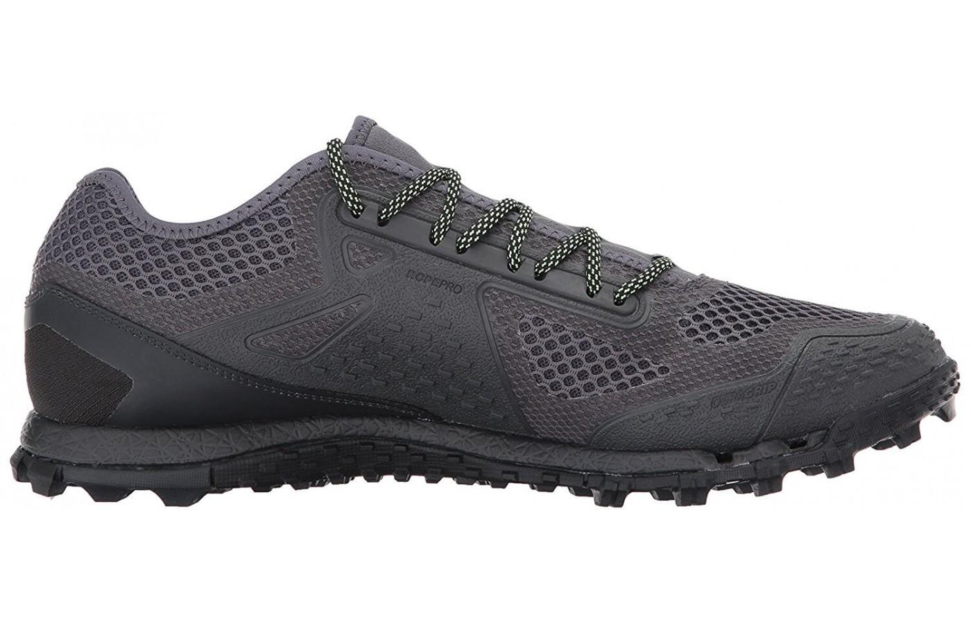 The upper is both breathable and durable.