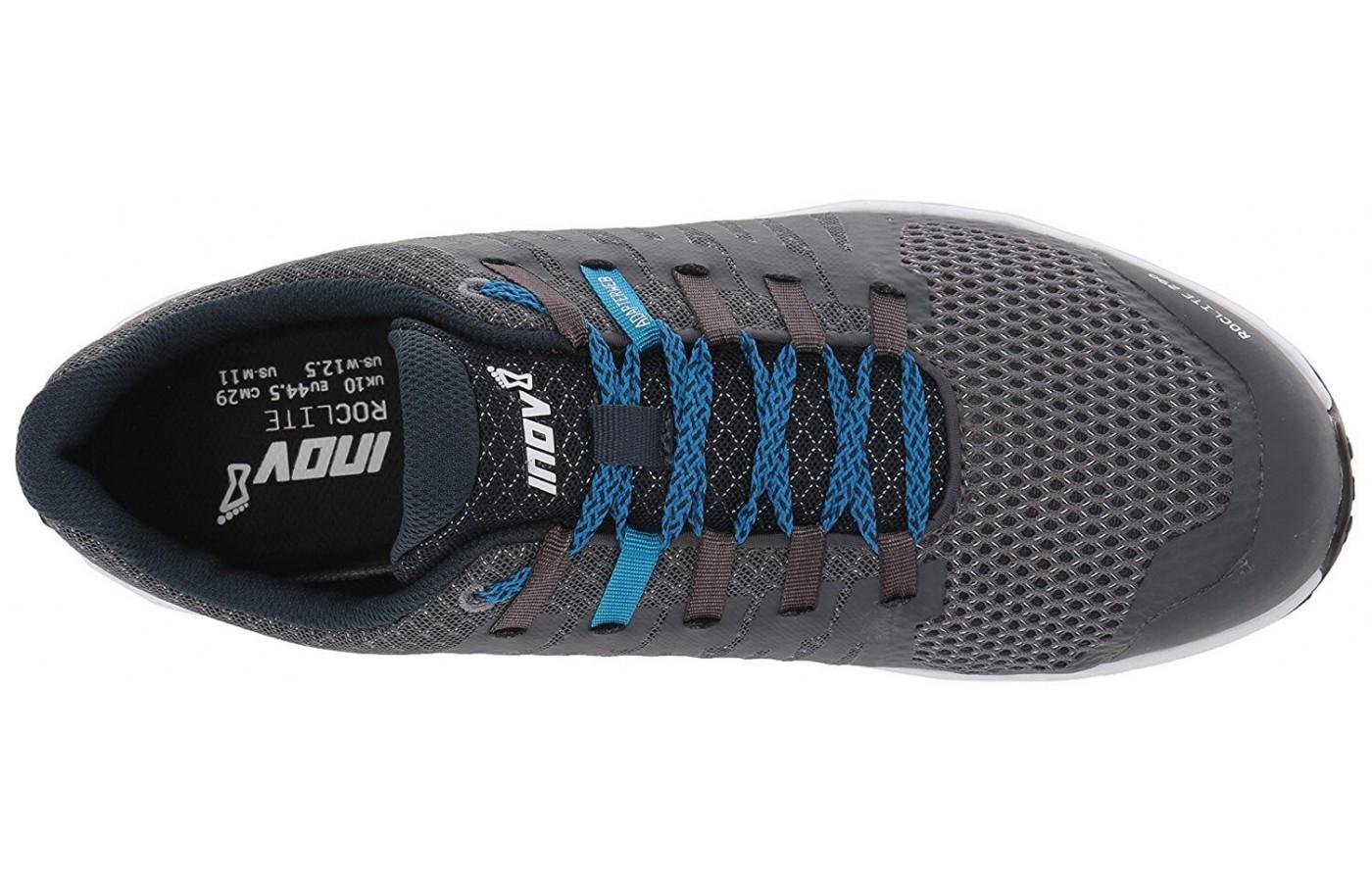 From the top, the Inov-8 Roclite 290 is a clean and simple looking shoe.