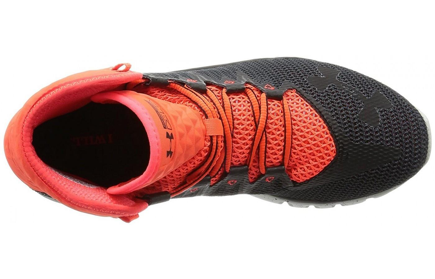 A view of the Under Armour Delta Highlight from directly above.