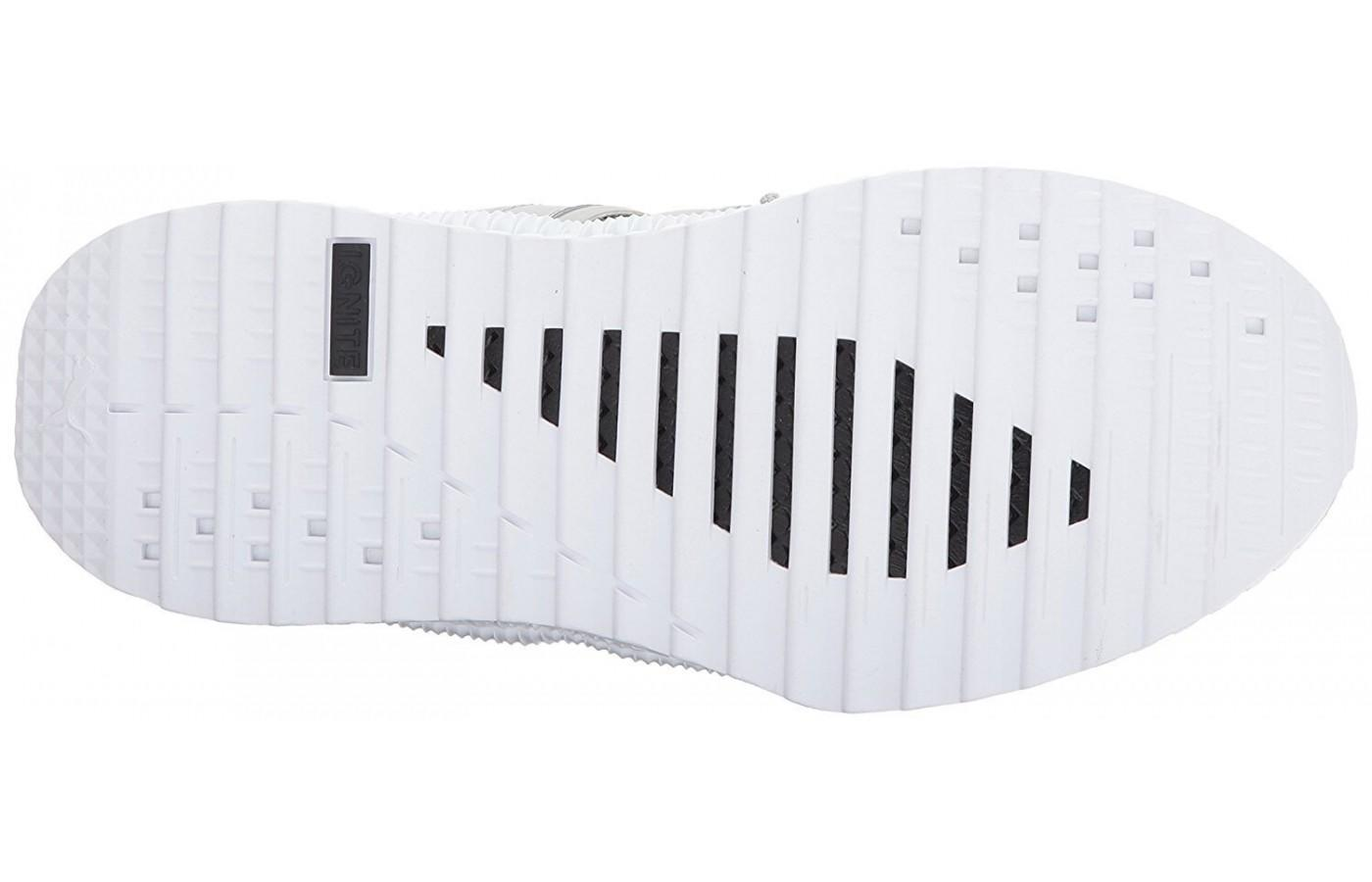 The outsole if flexible and lightweight