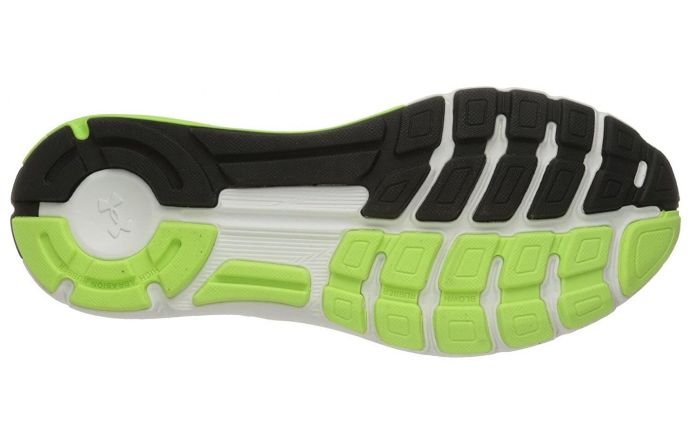 The protective outsole of the Speedform Europa isn't very flexible.