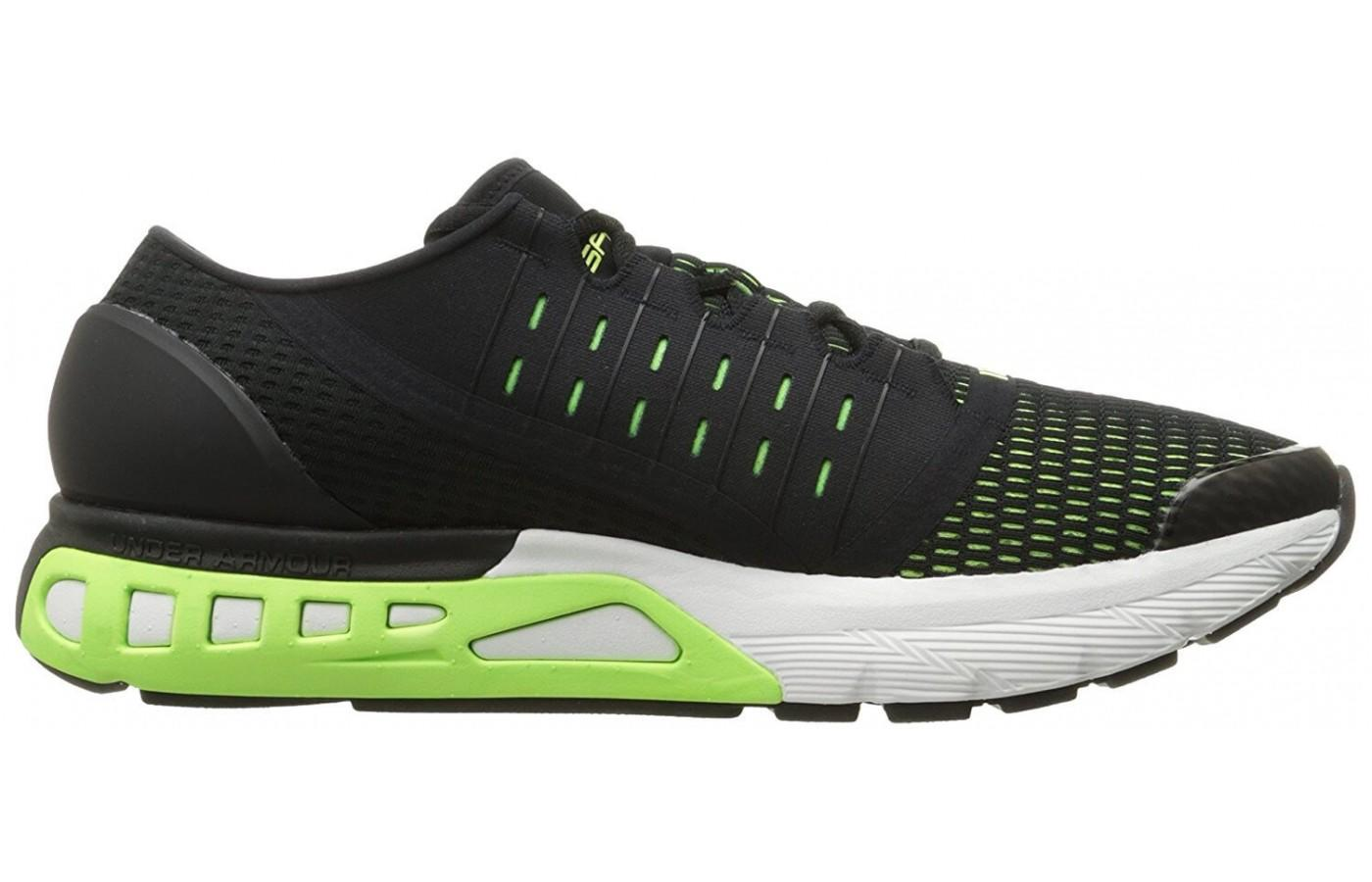 An 8 mm heel drop helps support your heels while wearing these Under Armour shoes.