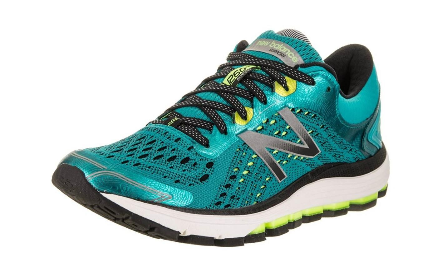 The New Balance 1260 V7 offers stability support for runners.