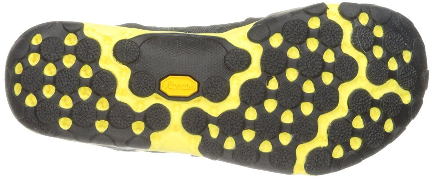 The special Vibram outsole and lugs can be seen here.