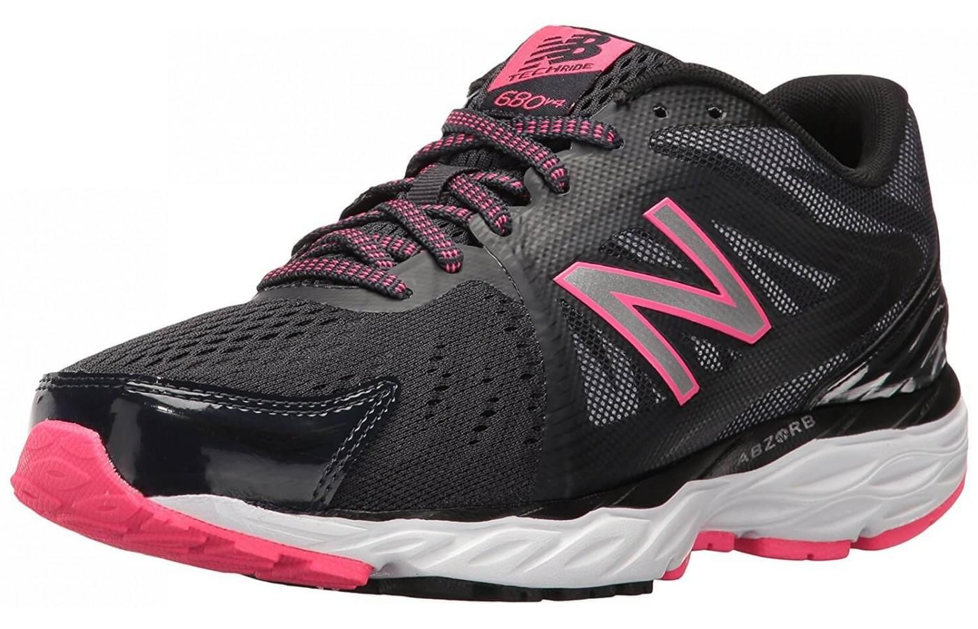 The New Balance 680V4 in black and pink