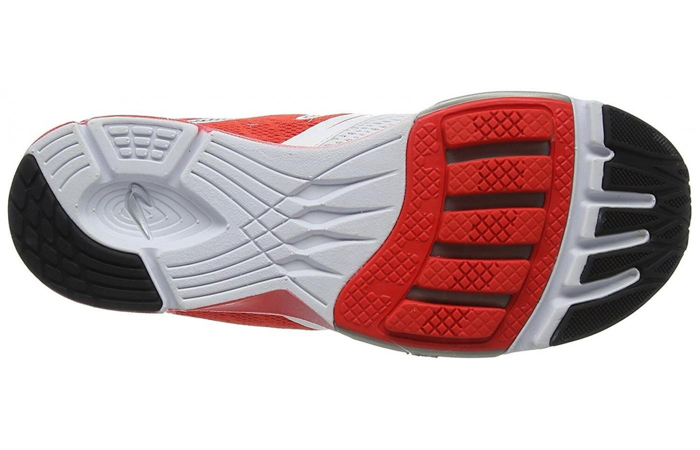The Newton Distance 6 tread pattern matches the bones and tendons in the foot