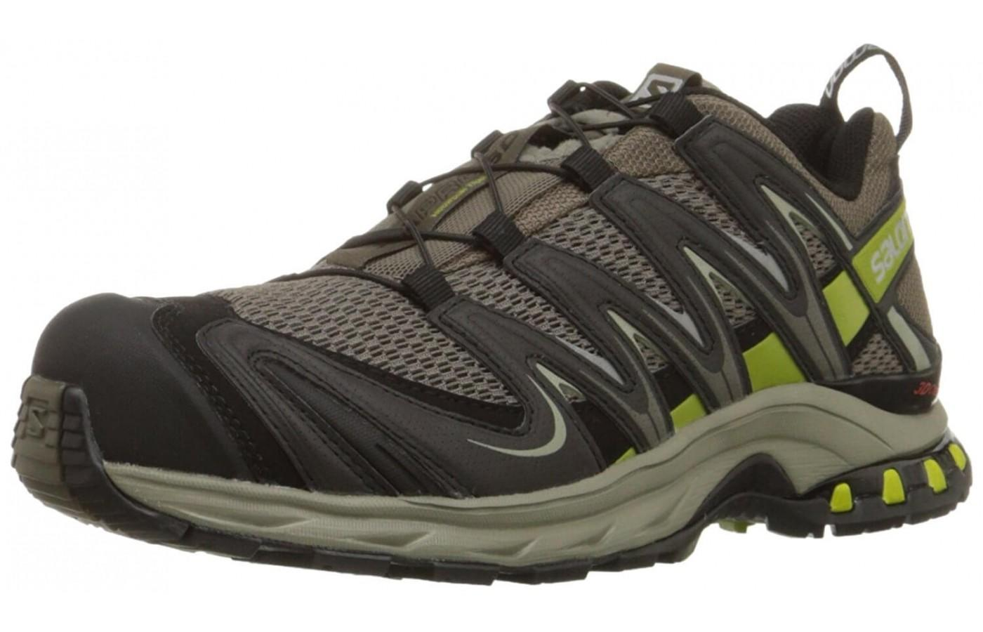 The Salomon Xa Pro 3D M+ as shown from the front/side