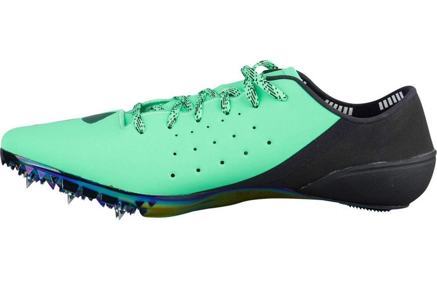 The Under Armour SpeedForm Sprint Pro has a seamless heel cup to lock in the foot