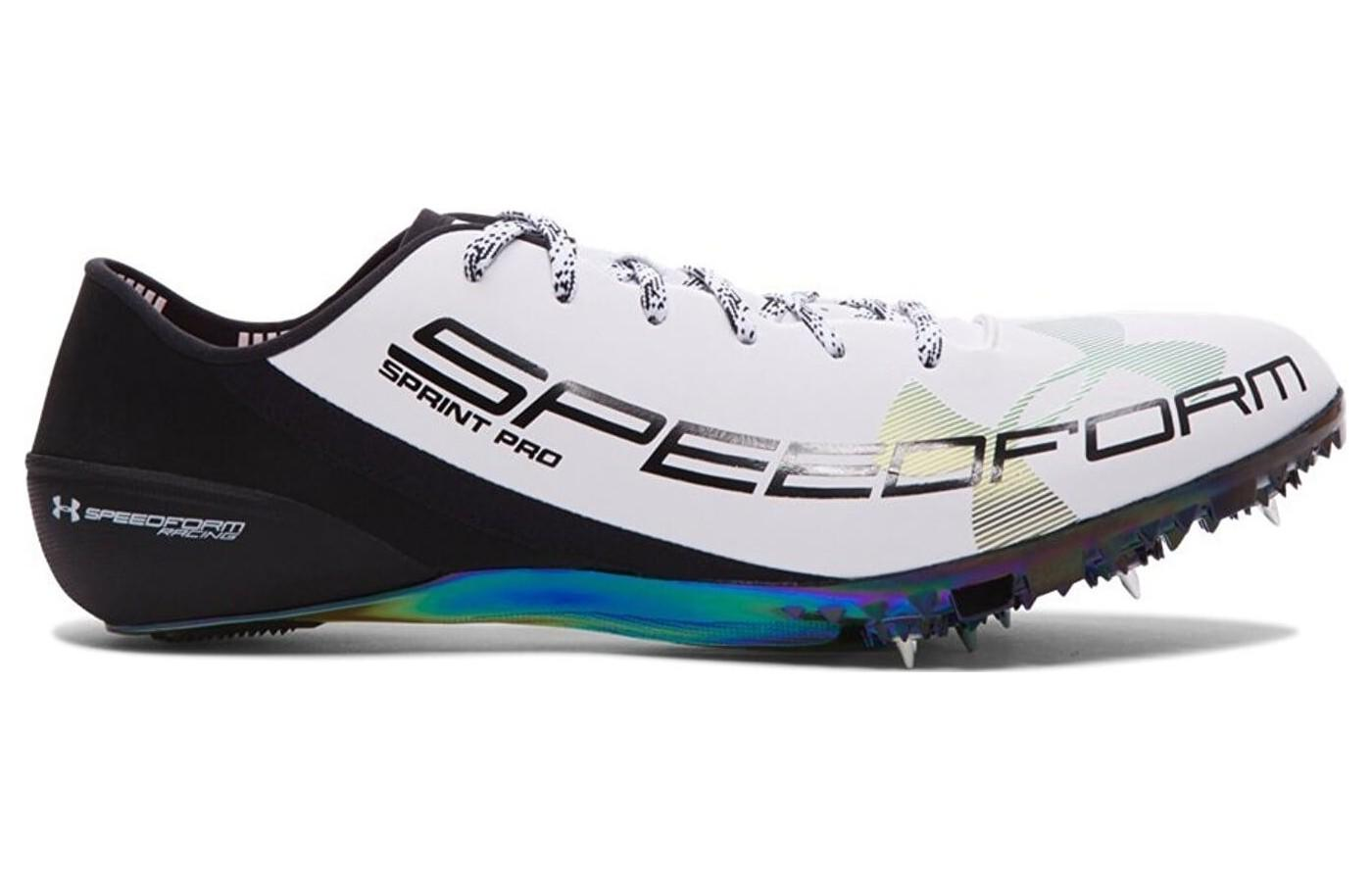 The Under Armour SpeedForm Sprint Pro shown from the side