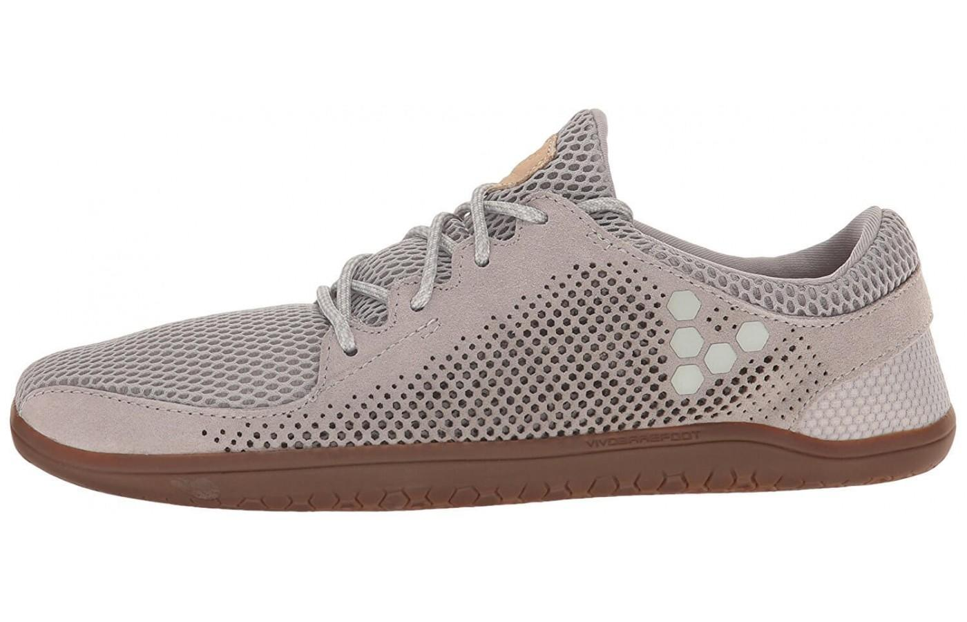 The Vivobarefoot Primus Trio has a low cut for full ankle mobility
