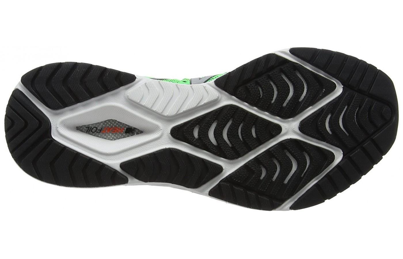 The outsole provides durability and split resistance.