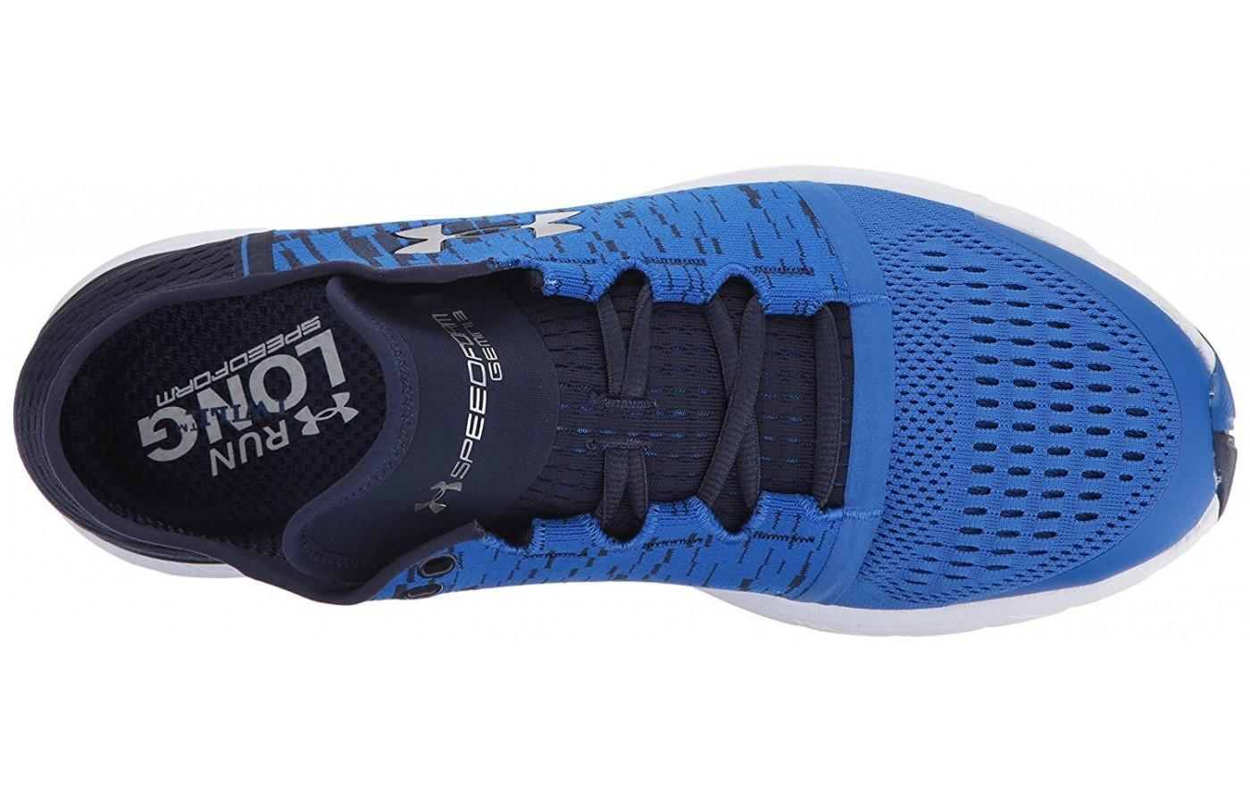 The patented midsole foam provides a responsive ride.