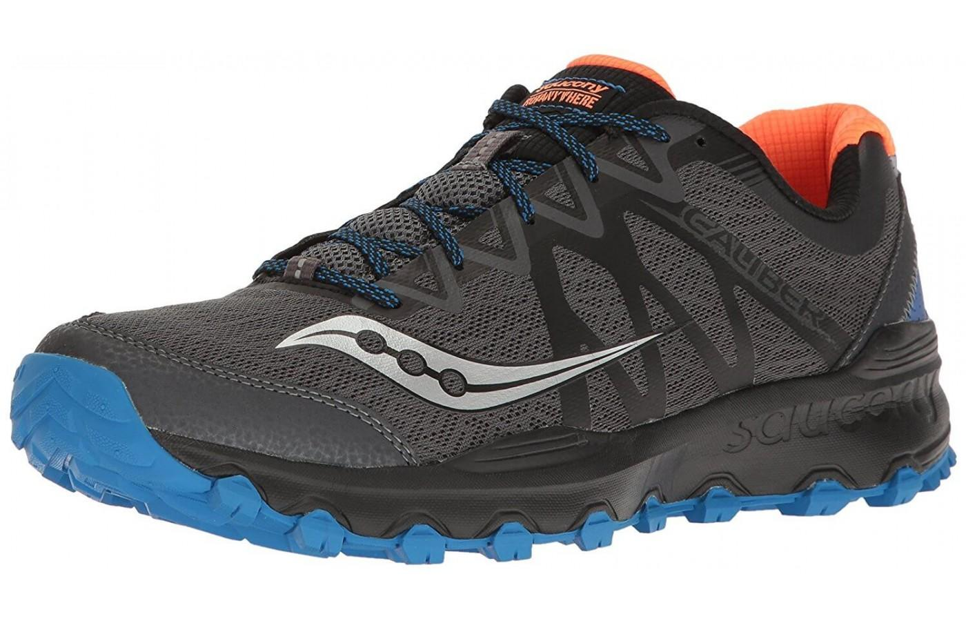 The Saucony Caliber TR is a rugged trail shoe.