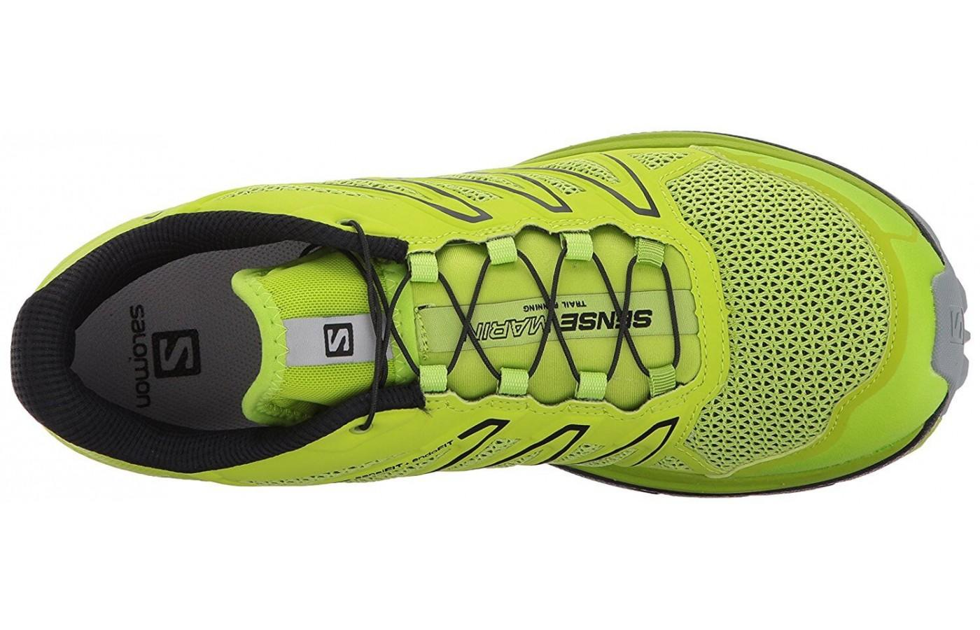 To keep the foot secure, runners can expect to find a snug upper.