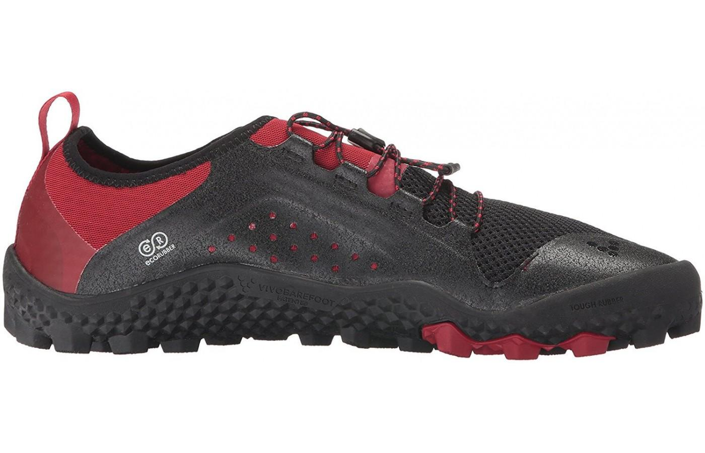 This is a zero drop shoe that supports the natural movement of the foot.